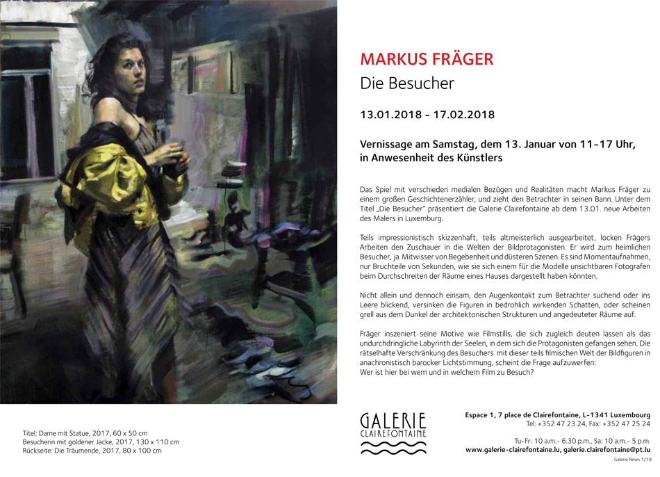 Markus Fräger GALERIE CLAIREFONTAINE, Luxembourg